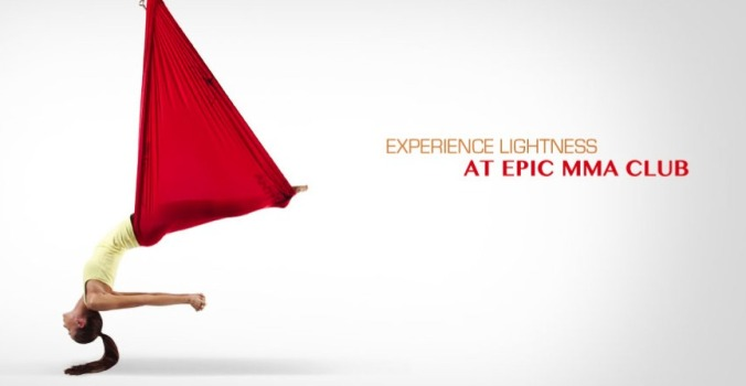 AntiGravity aerial yoga at Epic mma club and fitness