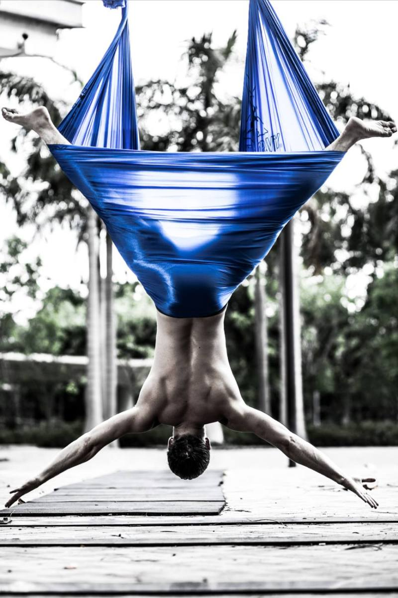 Tamer Begum Master Instructor AntiGravity Aerial Yoga Epic Fitness Asia