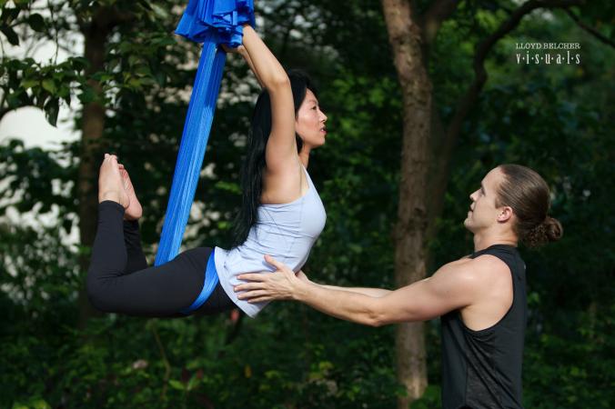 Tamer Begum AntiGravity Fitness master instructor epic yoga lululemon ambassador