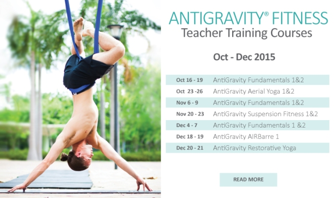 antigravity fitness teacher trainings in hong kong at EPIC yoga with master tamer