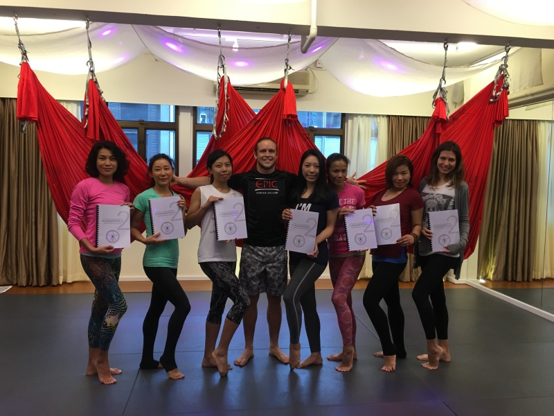 AntiGravity Fitness teacher trainings Hong Kong Epic Yoga 4
