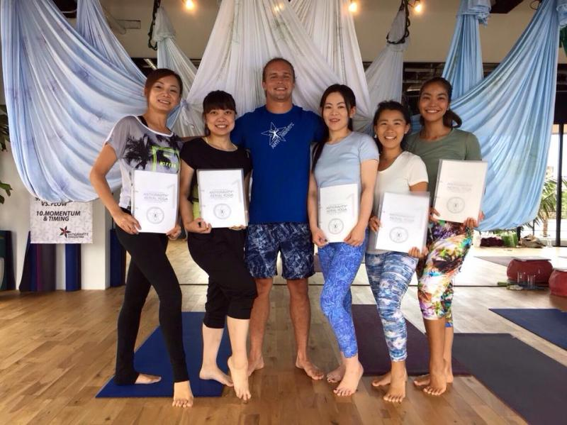 AntiGravity Master Trainer Tamer Begum Aerial Yoga Teacher Training