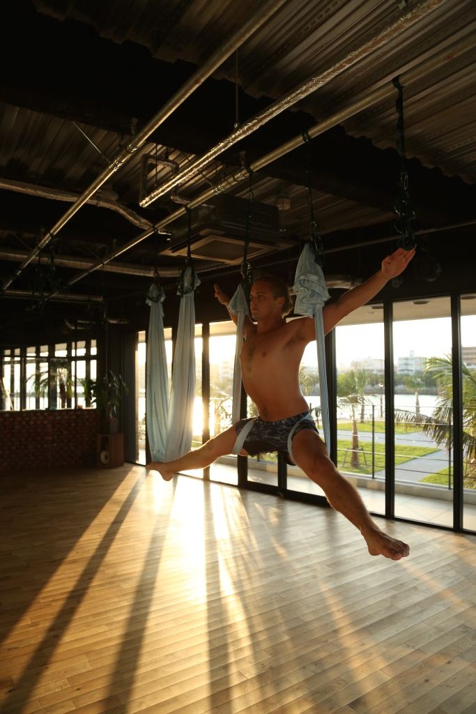 tamer anthony begum master trainer antigravity fitness aerial yoga japan