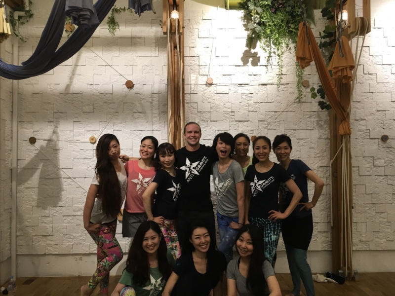Tamer begum master trainer asia antigravity aerial fitness