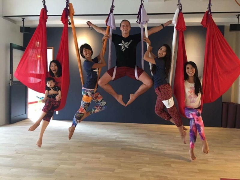 Master Trainer Tamer Begum with Star Instructor Trainers for AntiGravity Japan