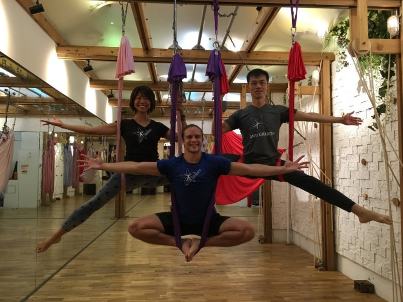 Tamer begum master trainer asia antigravity aerial fitness5