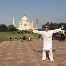 Taj Mahal with Dad