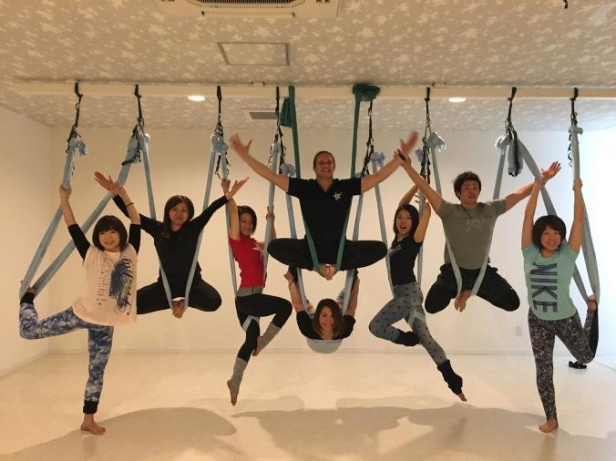 antigravity fitness aerial yoga top master trainer tamer begum