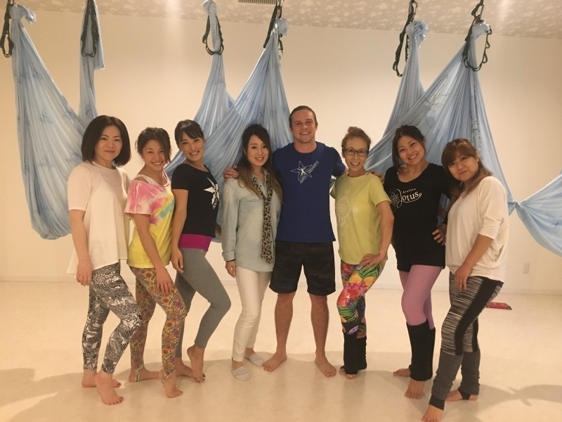 antigravity fitness aerial yoga top master trainer tamer begum